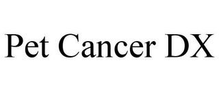 mark for PET CANCER DX, trademark #85888474