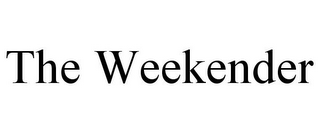 mark for THE WEEKENDER, trademark #85889063