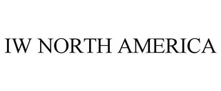 mark for IW NORTH AMERICA, trademark #85889347