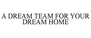 mark for A DREAM TEAM FOR YOUR DREAM HOME, trademark #85891493