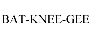 mark for BAT-KNEE-GEE, trademark #85891674