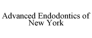 mark for ADVANCED ENDODONTICS OF NEW YORK, trademark #85891953
