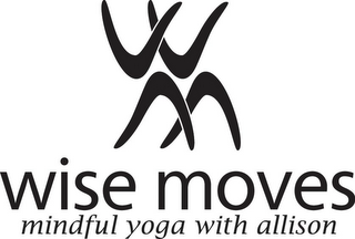 mark for WM WISE MOVES MINDFUL YOGA WITH ALLISON, trademark #85892348