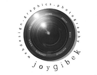 mark for JOYGIBEK WEBDESIGN · GRAPHICS · PHOTOGRAPHY HOME ABOUT BLOG PORTFOLIO CONTACTS 1:4.5-6 F-60-300MM, trademark #85892402