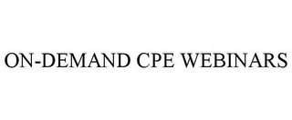 mark for ON-DEMAND CPE WEBINARS, trademark #85893090