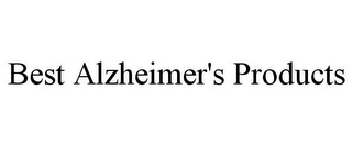 mark for BEST ALZHEIMER'S PRODUCTS, trademark #85895635