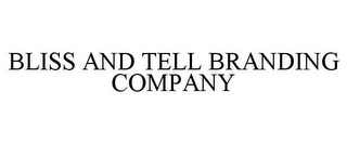 mark for BLISS AND TELL BRANDING COMPANY, trademark #85896648