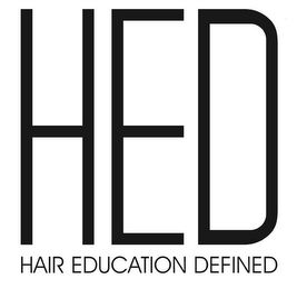 mark for HED HAIR EDUCATION DEFINED, trademark #85896888