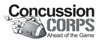 mark for CONCUSSION CORPS AHEAD OF THE GAME, trademark #85897249