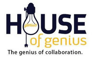 mark for HOUSE OF GENIUS THE GENIUS OF COLLABORATION., trademark #85897554