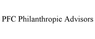 mark for PFC PHILANTHROPIC ADVISORS, trademark #85898067