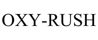 mark for OXY-RUSH, trademark #85900421