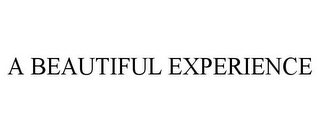 mark for A BEAUTIFUL EXPERIENCE, trademark #85900500