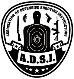 mark for ASSOCIATION OF DEFENSIVE SHOOTING INSTRUCTORS A.D.S.I., trademark #85902188
