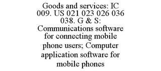 mark for GOODS AND SERVICES: IC 009. US 021 023 026 036 038. G & S: COMMUNICATIONS SOFTWARE FOR CONNECTING MOBILE PHONE USERS; COMPUTER APPLICATION SOFTWARE FOR MOBILE PHONES, trademark #85902952