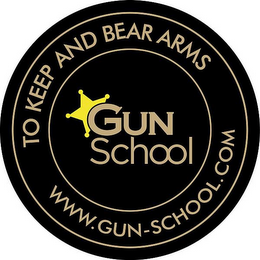 mark for GUN SCHOOL TO KEEP BEAR ARMS WWW.GUN-SCHOOL.COM, trademark #85903547