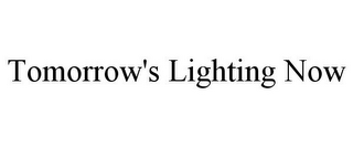 mark for TOMORROW'S LIGHTING NOW, trademark #85903559