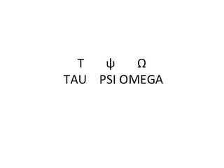 mark for T TAU PSI OMEGA, trademark #85904670