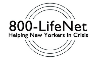mark for 800-LIFENET HELPING NEW YORKERS IN CRISIS, trademark #85905188