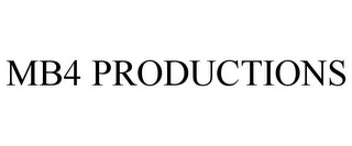 mark for MB4 PRODUCTIONS, trademark #85906297