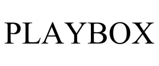 mark for PLAYBOX, trademark #85906362