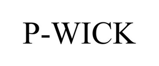 mark for P-WICK, trademark #85906481