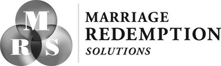 mark for MRS MARRIAGE REDEMPTION SOLUTIONS, trademark #85908465