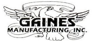 mark for GAINES MANUFACTURING INC, trademark #85909220