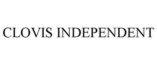 mark for CLOVIS INDEPENDENT, trademark #85911499