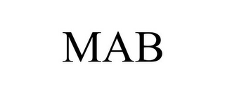 mark for MAB, trademark #85912199