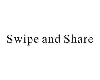 mark for SWIPE AND SHARE, trademark #85912786