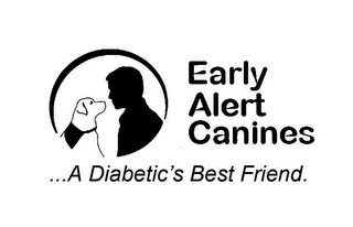 mark for EARLY ALERT CANINES...A DIABETICS BEST FRIEND., trademark #85915287