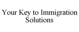 mark for YOUR KEY TO IMMIGRATION SOLUTIONS, trademark #85916933