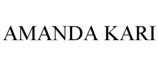 mark for AMANDA KARI, trademark #85918381