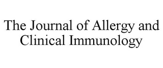 mark for THE JOURNAL OF ALLERGY AND CLINICAL IMMUNOLOGY, trademark #85919838