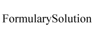 mark for FORMULARYSOLUTION, trademark #85919881