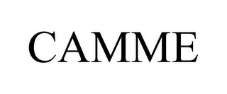 mark for CAMME, trademark #85920193