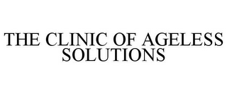 mark for THE CLINIC OF AGELESS SOLUTIONS, trademark #85920416