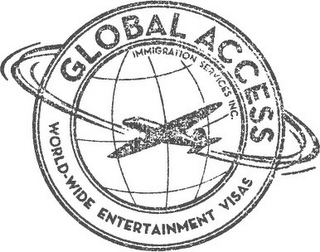 mark for GLOBAL ACCESS IMMIGRATION SERVICES INC. WORLD-WIDE ENTERTAINMENT VISAS, trademark #85920651