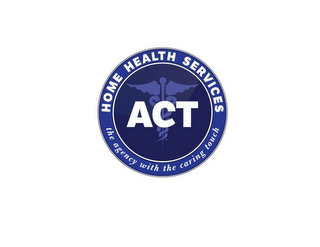 mark for ACT HOME HEALTH SERVICES THE AGENCY WITH THE CARING TOUCH, trademark #85922472