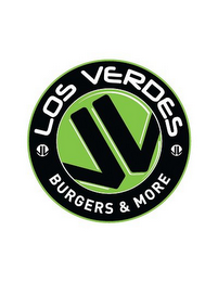 mark for LOS VERDES BURGERS & MORE, trademark #85925484