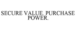 mark for SECURE VALUE. PURCHASE POWER., trademark #85925689
