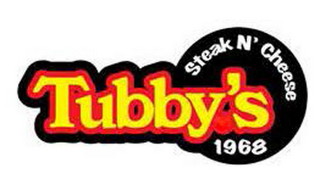 mark for TUBBY'S STEAK N' CHEESE 1968, trademark #85926087