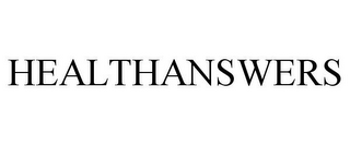 mark for HEALTHANSWERS, trademark #85926318
