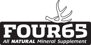 mark for FOUR65 ALL NATURAL MINERAL SUPPLEMENT, trademark #85926380