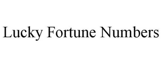 mark for LUCKY FORTUNE NUMBERS, trademark #85926624