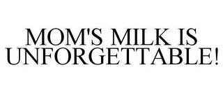 mark for MOM'S MILK IS UNFORGETTABLE!, trademark #85927002
