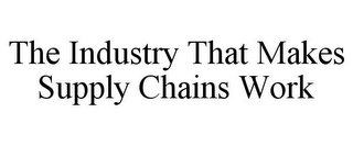 mark for THE INDUSTRY THAT MAKES SUPPLY CHAINS WORK, trademark #85928010