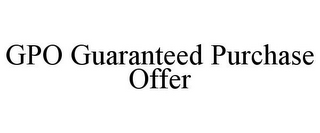 mark for GPO GUARANTEED PURCHASE OFFER, trademark #85928708