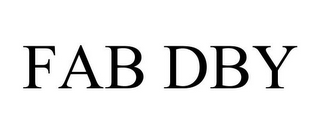 mark for FAB DBY, trademark #85929237